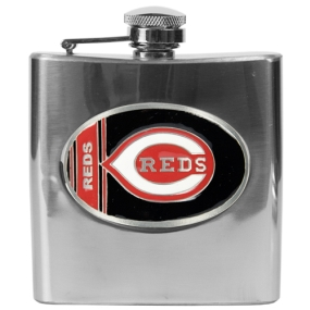 Cincinnati Reds 6oz Stainless Steel Flask