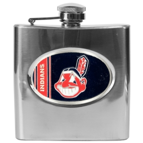 Cleveland Indians 6oz Stainless Steel Flask