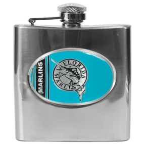 Florida Marlins 6oz Stainless Steel Flask