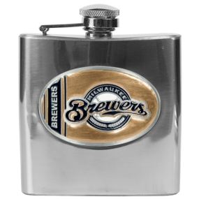 Milwaukee Brewers 6oz Stainless Steel Flask