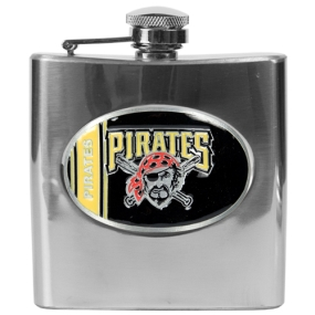 Pittsburgh Pirates 6oz Stainless Steel Flask