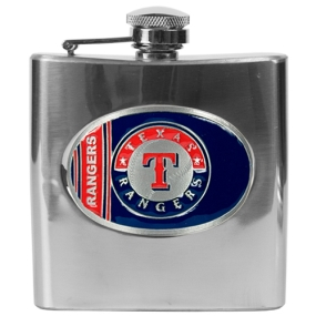 Texas Rangers 6oz Stainless Steel Flask
