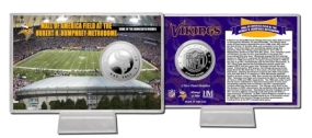 Mall of America Field at Huber H. Humphrey Metrodome Silver Coin Card