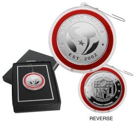Houston Texans Silver Coin Ornament