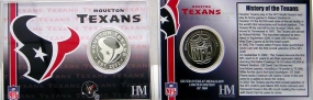 Houston Texans Team History Coin Card