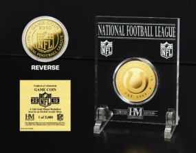 Indianapolis Colts 24KT  Gold Game Coin