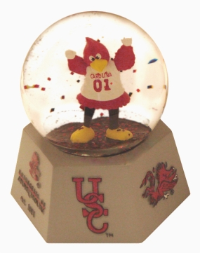 SOUTH CAROLINA U MASCOT WATER GLOBE