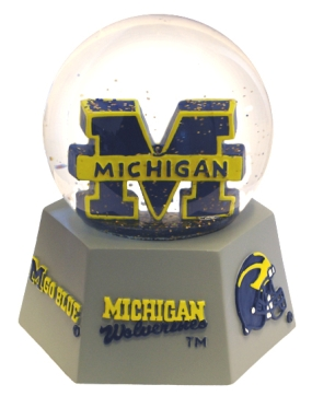 MICHIGAN U LOGO WATER GLOBE