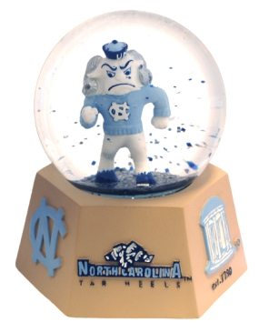 NORTH CAROLINA U MASCOT WATER GLOBE