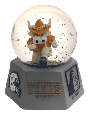 TEXAS U LOGO WATER GLOBE