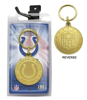 Indianapolis Colts Bronze Bullion Keychain