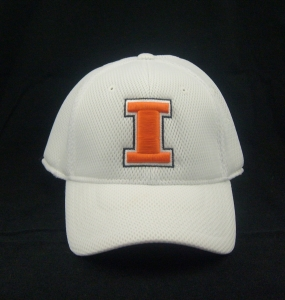 Illinois Fighting Illini White Elite One Fit Hat