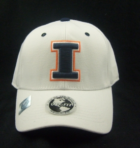 Illinois Fighting Illini White One Fit Hat