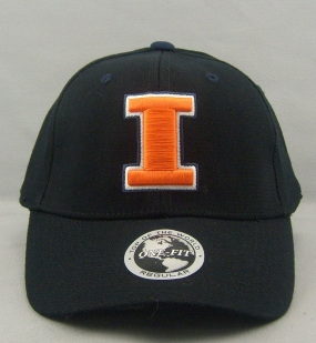 Illinois Fighting Illini Black One Fit Hat
