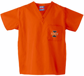 Illinois Fighting Illini Scrub Top