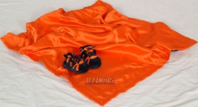 Illinois Fighting Illini Baby Blanket and Slippers