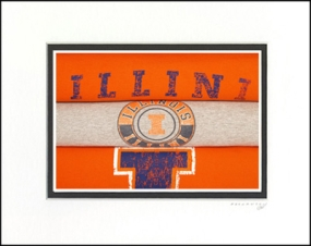 Illinois Illini Vintage T-Shirt Sports Art