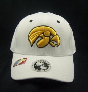 Iowa Hawkeyes White One Fit Hat