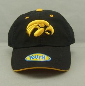 Iowa Hawkeyes Youth Crew Adjustable Hat