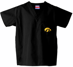 Iowa Hawkeyes Scrub Top