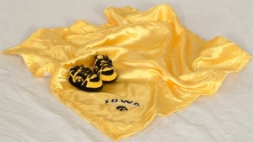 Iowa Hawkeyes Baby Blanket and Slippers