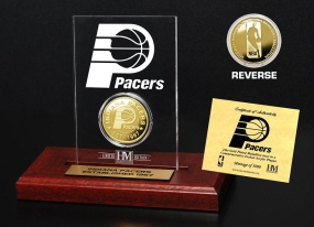 Indiana Pacers 24KT Gold Coin Etched Acrylic