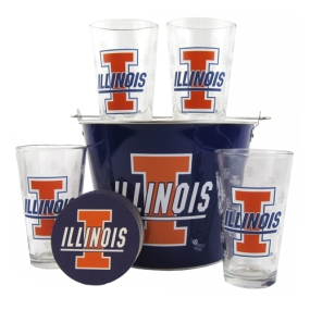 Illinois Fighting Illini Gift Bucket Set