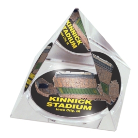 Iowa Hawkeyes Crystal Pyramid