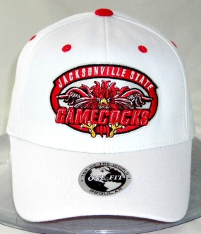 Jacksonville State Gamecocks White One Fit Hat