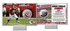 Jamaal Charles Silver coin card