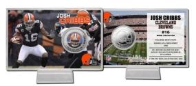 Josh Cribbs Silver Coin Card`