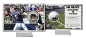 Joe Flacco Silver Coin Card