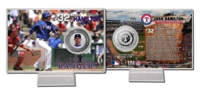 Josh Hamilton Silver Plate Coin Card