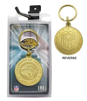 Jacksonville Jaguars Bronze Bullion Keychain