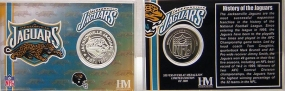 Jacksonville Jaguars Team History Coin Card