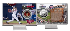 Joe Mauer Silver Plate Coin Card