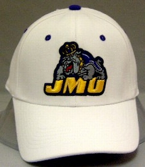 James Madison Dukes White One Fit Hat