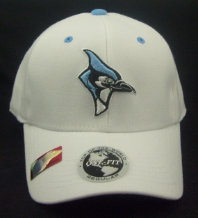Johns Hopkins Blue Jays White One Fit Hat