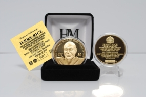 Jerry Rice 2010 HOF Induction 24KT Gold Coin