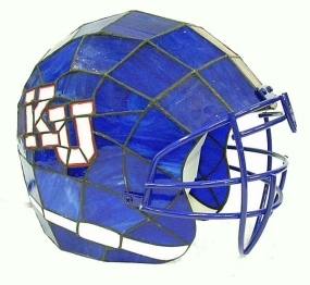 Kansas Jayhawks Glass Helmet Lamp