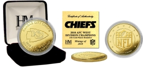 Kansas City Chiefs '10 AFC West Division Champions 24KT Gold Coin