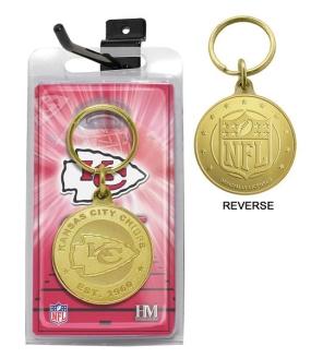 Kansas City Chiefs Bronze Bullion Keychain