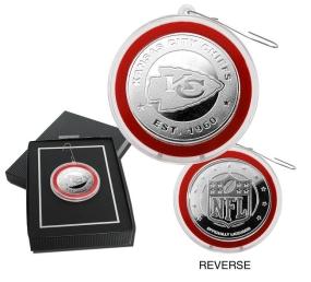 Kansas City Chiefs Silver Coin Ornament