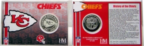 Kansas City Chiefs Team History Silver Coin Card