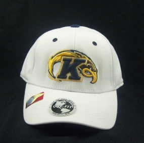 Kent State Golden Flashes White One Fit Hat