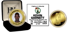 Kevin Garnett 24KT Gold and Color Coin