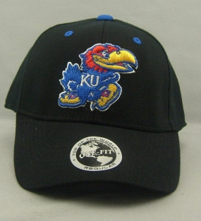 Kansas Jayhawks Black One Fit Hat