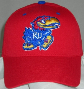 Kansas Jayhawks Team Color One Fit Hat