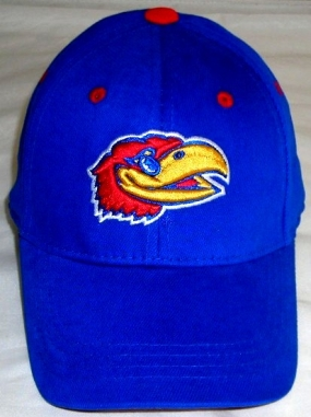 Kansas Jayhawks Youth Team Color One Fit Hat