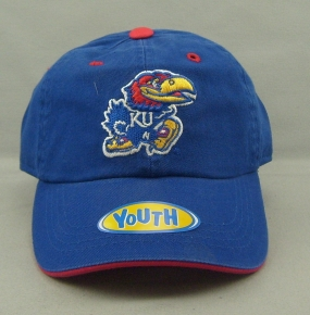 Kansas Jayhawks Youth Crew Adjustable Hat